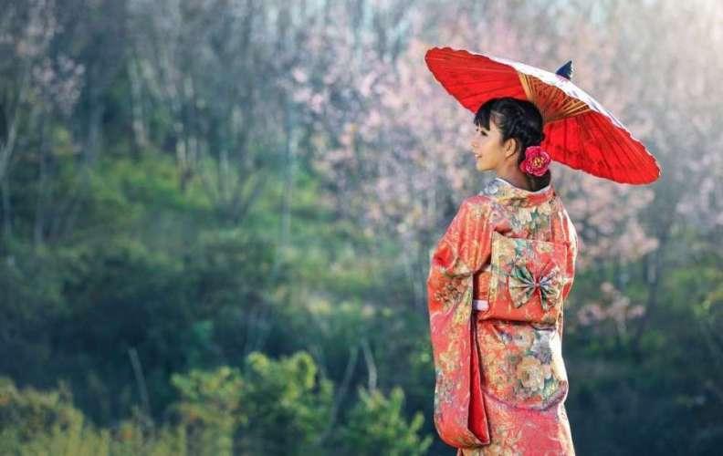 ramener un kimono japonais